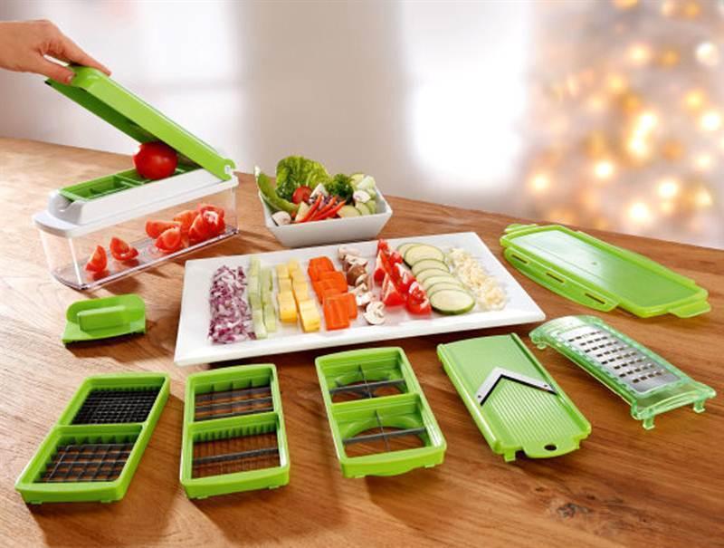 Multifunkciós szeletelő, ami egyik konyhából se hiányozhat - a felszeletelt étel a szeletelő saját dobozába kerül