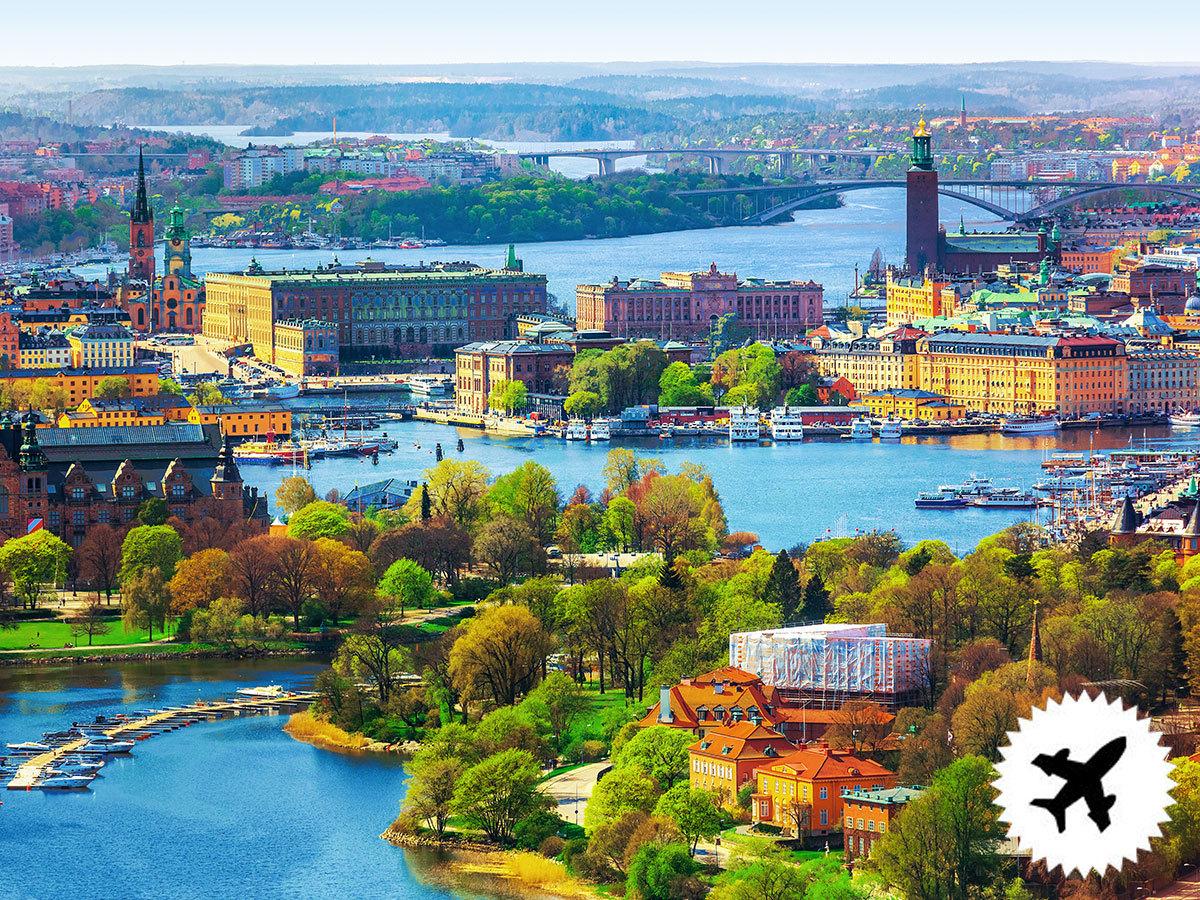 Stockholm, Svédország, utazás repülővel, szállás 4 éjszakára reggelivel 2 vagy 3 csillagos hotelben / fő