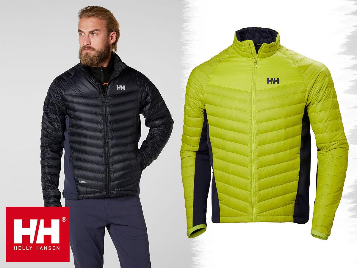 Helly Hansen VERGLAS HYBRID INSULATOR férfi kabátok pehelytoll töltettel - extra könnyű, mégis kitűnően szigetel