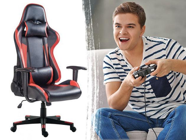 Gamer szék Basic és Pro - állítható magasság, dönthető hát- és ülőfelület, extra kényelem, 3 színben: kék, piros, szürke