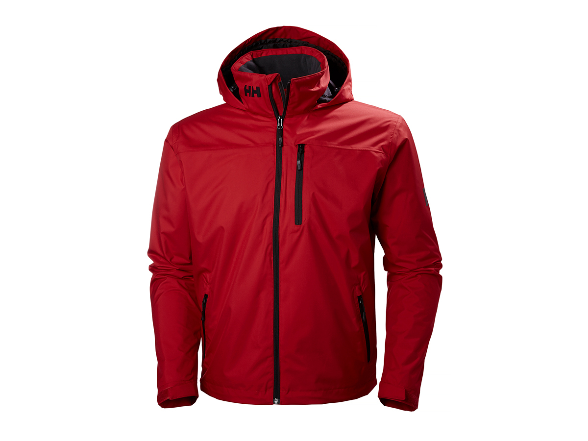 Helly Hansen CREW HOODED MIDLAYER JACKET - RED - L (33874_162-L )