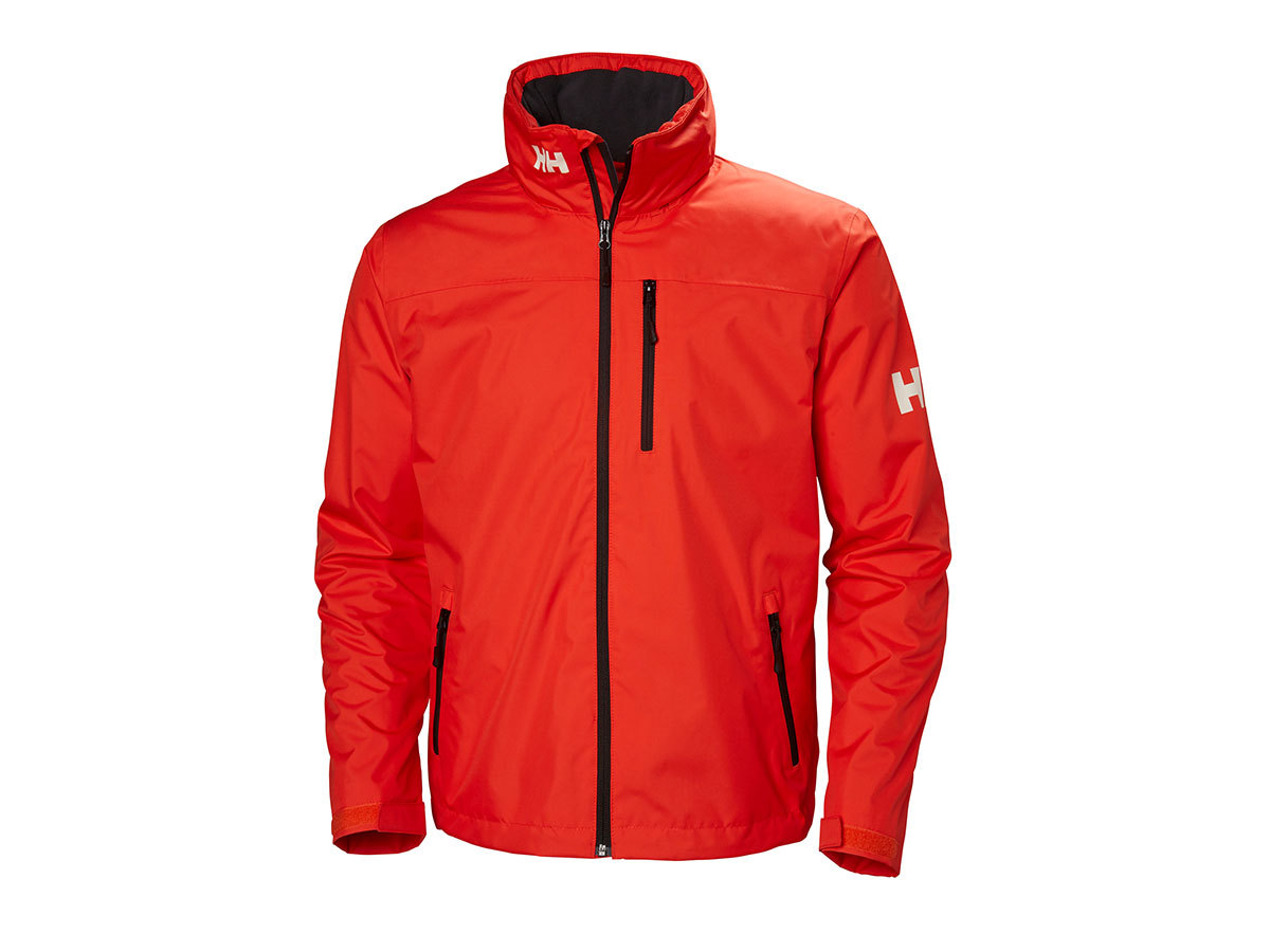 Helly Hansen CREW HOODED MIDLAYER JACKET - CHERRY TOMATO - M (33874_147-M )