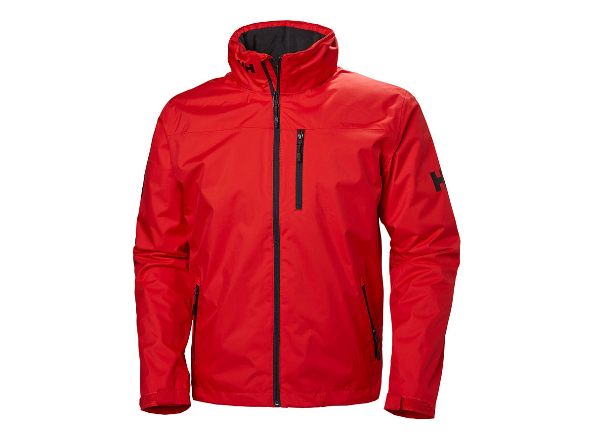 Helly Hansen CREW HOODED MIDLAYER JACKET - ALERT RED - XXXXL (33874_222-4XL )
