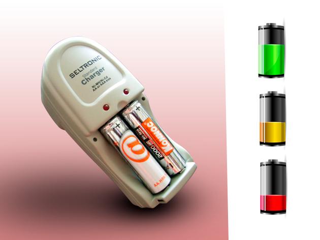 Seltronic akkumulátor töltő 2db ajándék tölthető elemmel 2.490 Ft helyett csak 1.190 Ft-ért!
