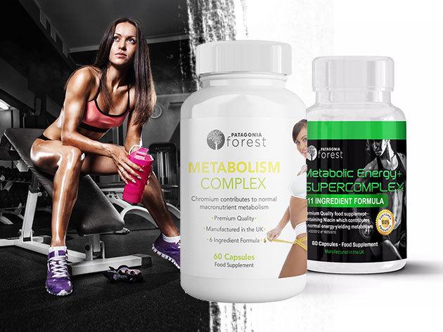 Metabolic Energy+ Supercomplex és Metabolism complex! Növelik az anyagcserét és a zsírégetést, új mentális energiát adnak! Ideális nőknek és férfiaknak (60 kapszula / doboz)