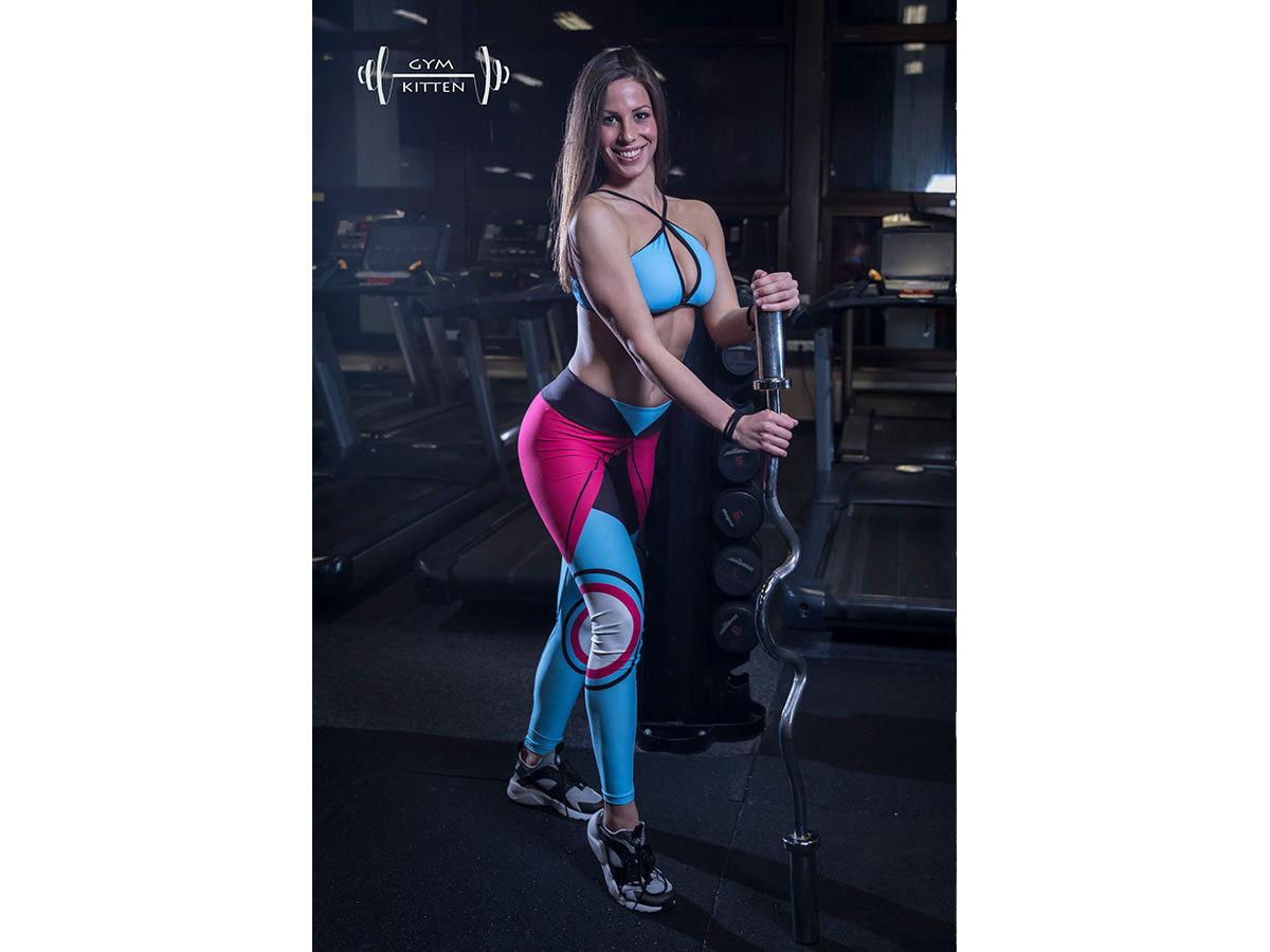 Gym Kitten Fitness Együttes Kék-pink-fekete - L