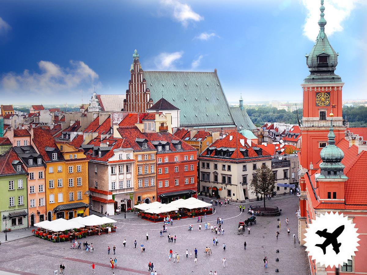 Varsó, utazás repülővel, szállás 4 éjszakára reggelivel 2 vagy 3 csillagos hotelben / fő