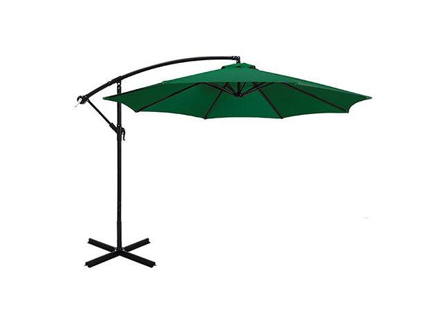 Függő napernyő, 2,7m, zöld - HOP1000812-1