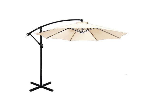 Függő napernyő, 2,7m, krém - HOP1000812-4