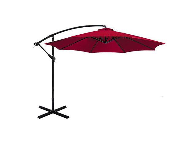 Függő napernyő, 2,7m, piros - HOP1000812-2