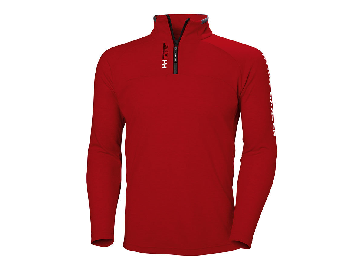 Helly Hansen HP 1/2 ZIP PULLOVER - RED - S (54213_163-S )