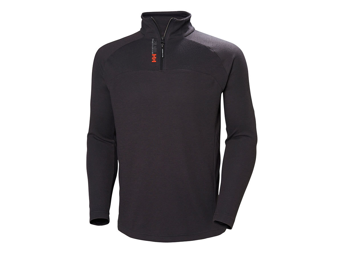 Helly Hansen HP 1/2 ZIP PULLOVER - EBONY - S (54213_981-S )