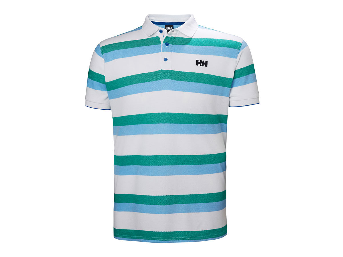 Helly Hansen MARSTRAND POLO - CORNFLOWER TWIN STRIPE - L (53022_510-L )
