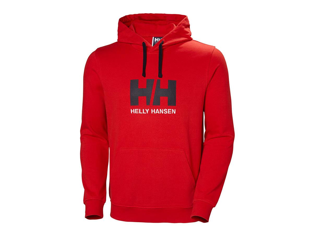 Helly Hansen HH LOGO HOODIE - FLAG RED - XL (33977_110-XL ) - AZONNAL ÁTVEHETŐ