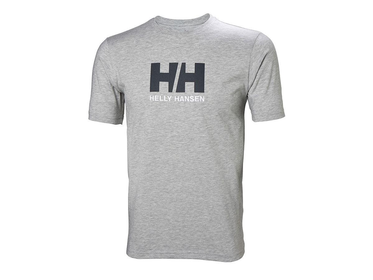 Helly Hansen HH LOGO T-SHIRT - GREY MELANGE - L (33979_950-L ) - AZONNAL ÁTVEHETŐ