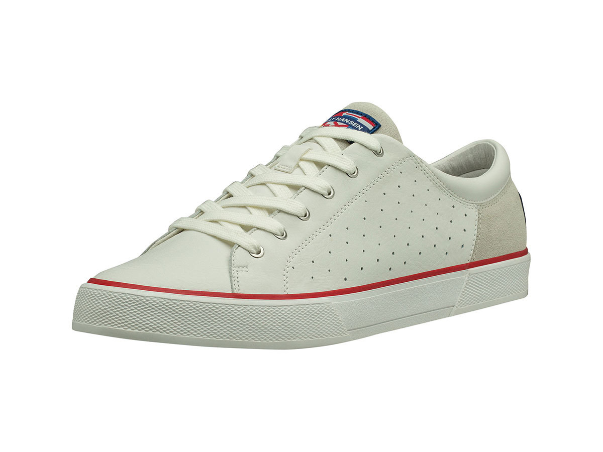 Helly Hansen COPENHAGEN LEATHER SHOE - OFF WHITE / ALERT RED / L - EU 42/US 8.5 (11502_011-8.5 )