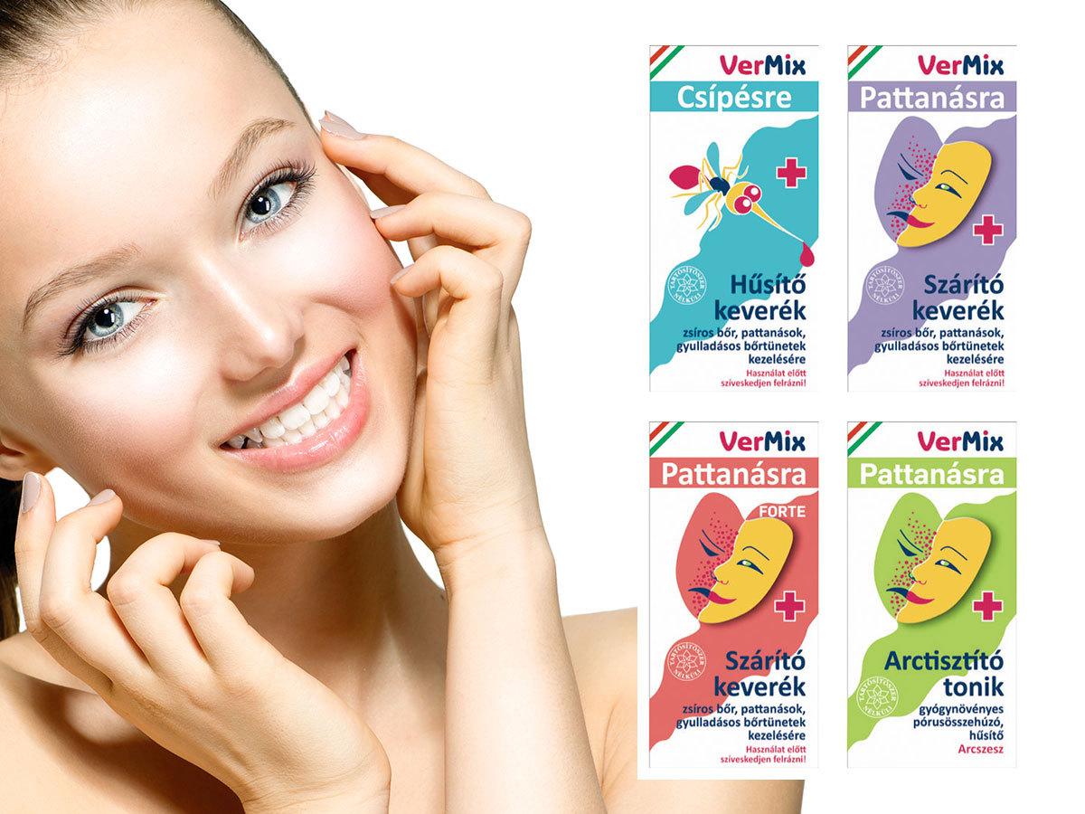 Vermix kozmetikumok természetes összetevőkből: arctisztító tonik, pattanás szárító, sebkezelő, hűsítő keverék csípésre