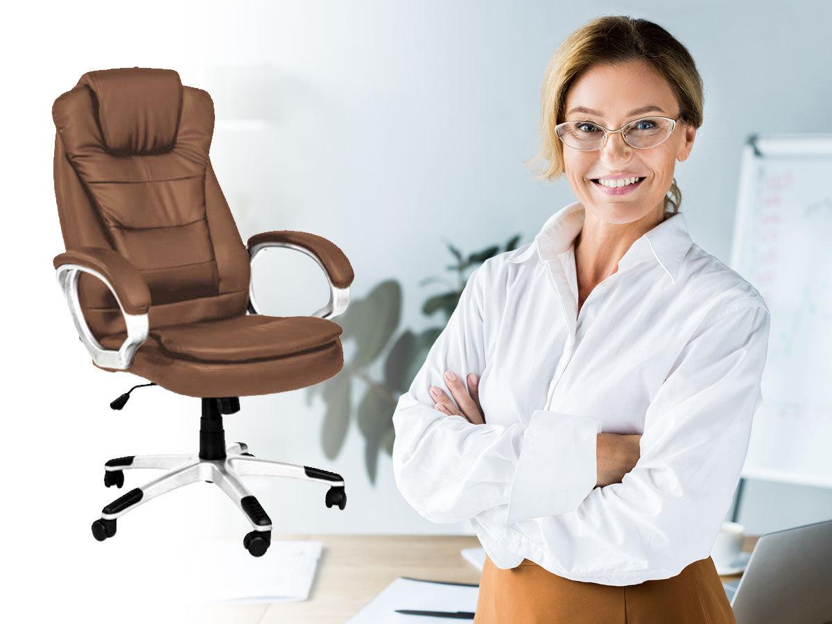RELAX főnöki forgószék duplán párnázott üléssel és háttámasszal, hintamechanikával
