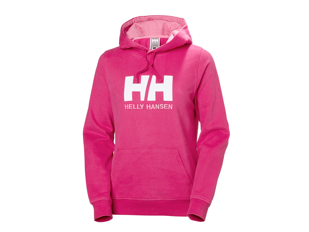 Helly Hansen W HH LOGO HOODIE - DRAGON FRUIT - XL (33978_181-XL )