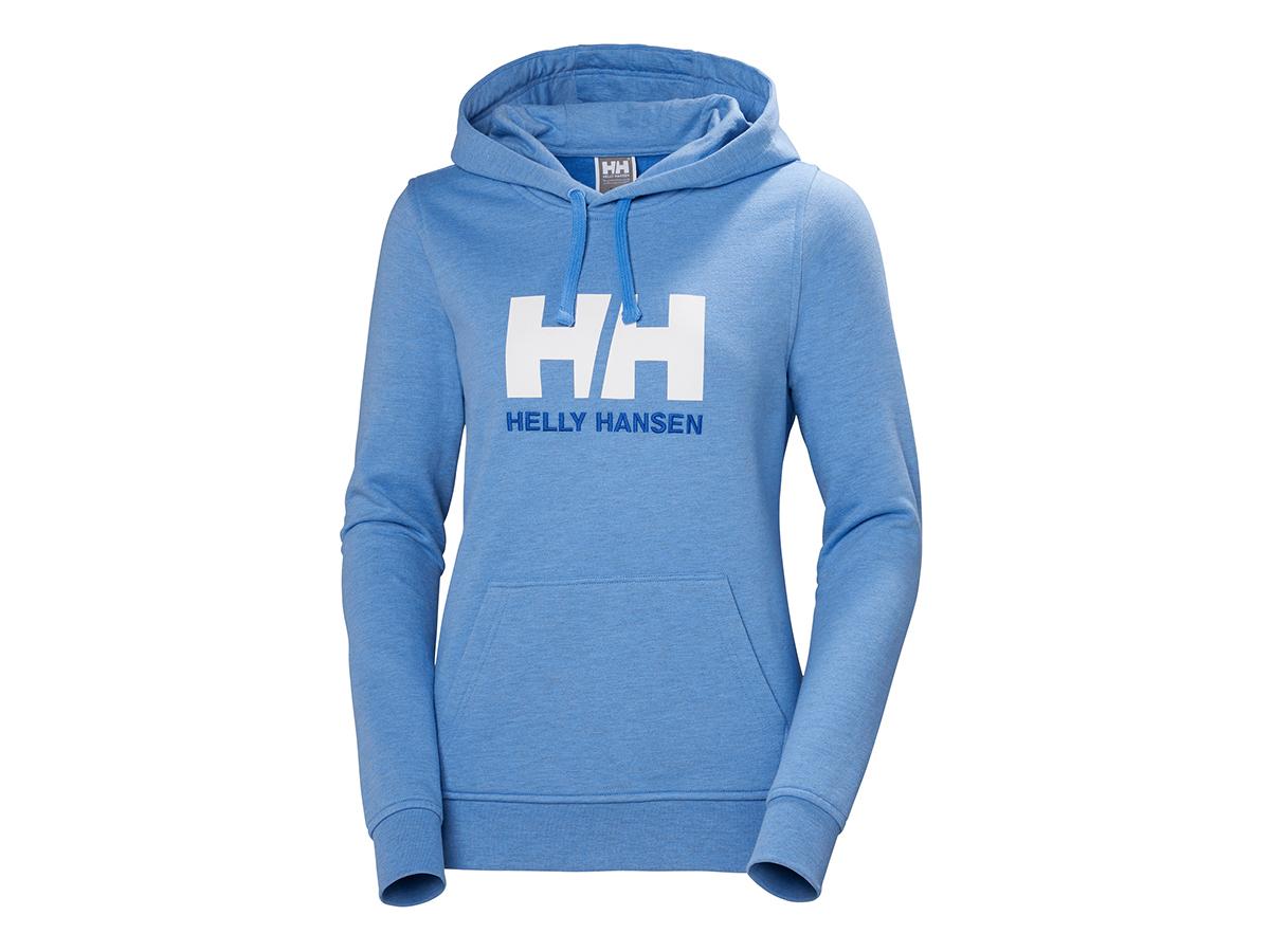 Helly Hansen W HH LOGO HOODIE - CORNFLOWER MELANGE - M (33978_509-M ) - AZONNAL ÁTVEHETŐ