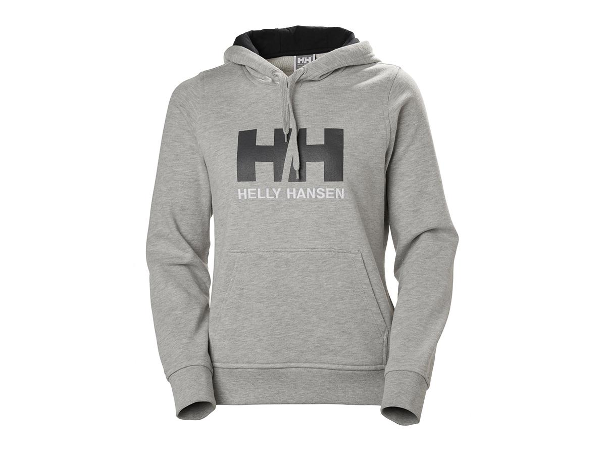 Helly Hansen W HH LOGO HOODIE - GREY MELANGE - L (33978_949-L )