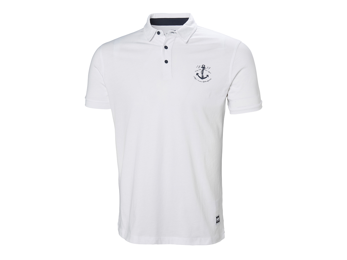 Helly Hansen FJORD POLO - WHITE ANCHOR - L (53024_005-L )