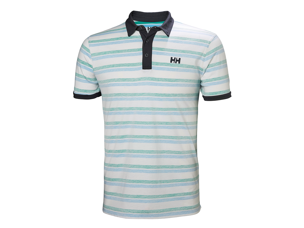 Helly Hansen FJORD POLO - PEPPER GREEN FADED STRIPE - M (53024_472-M )
