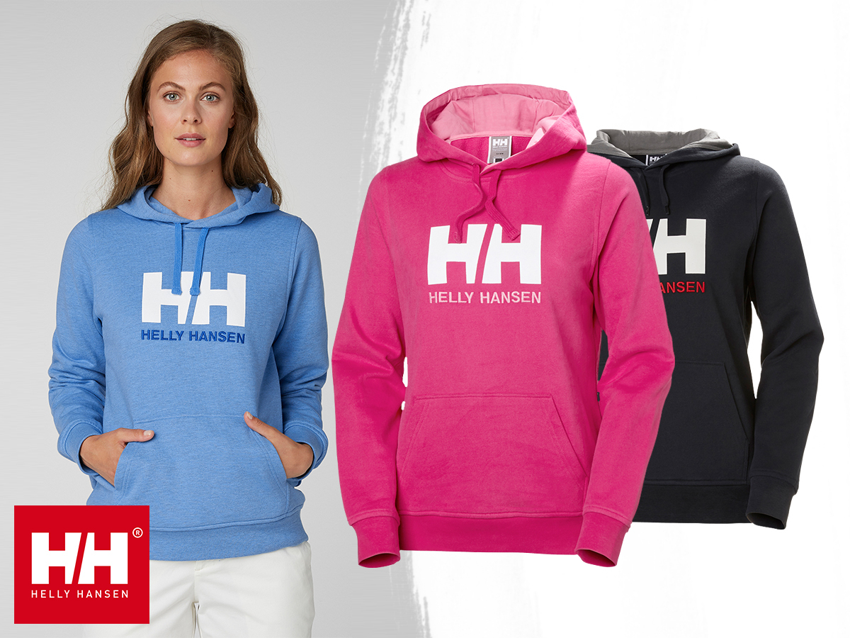 Helly Hansen W HH LOGO HOODIE kapucnis, kényelmes, meleg női pulóver pamutból XS-XL méretben