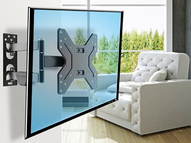 """TV tartó fali konzolok erős acél szerkezettel, melyek 14""""-42"""" vagy 26""""-55""""-os tévékhez alkalmas, könnyen felszerelhetőek"""