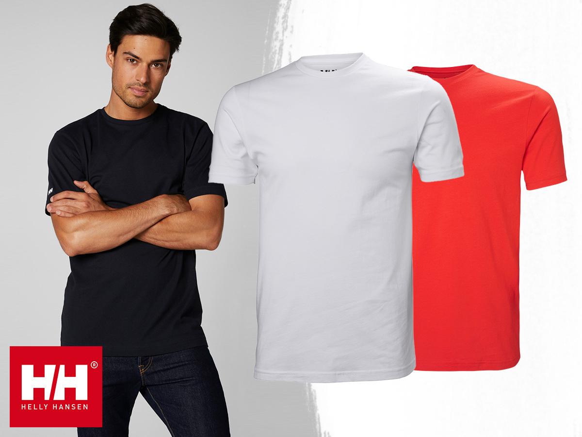 Helly Hansen CREW T-SHIRT (S-4XL) - klasszikus kerek nyakú, rövid ujjú póló, magas minőségű pamut anyagból férfiaknak