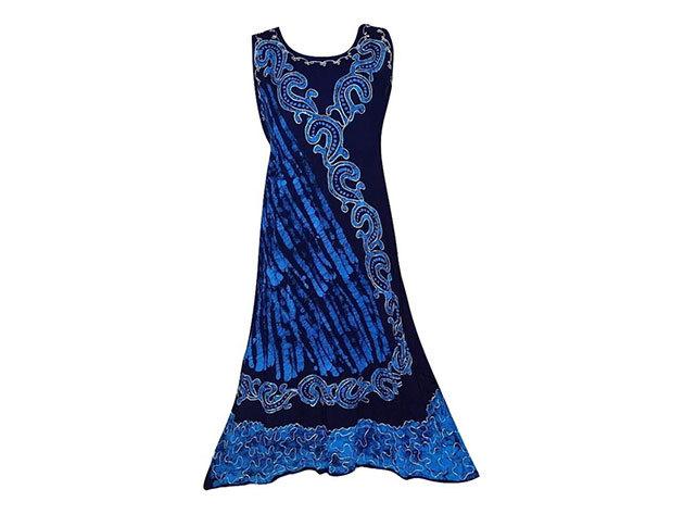Nagy méretű hosszú ruha Indiából 2509 - kék