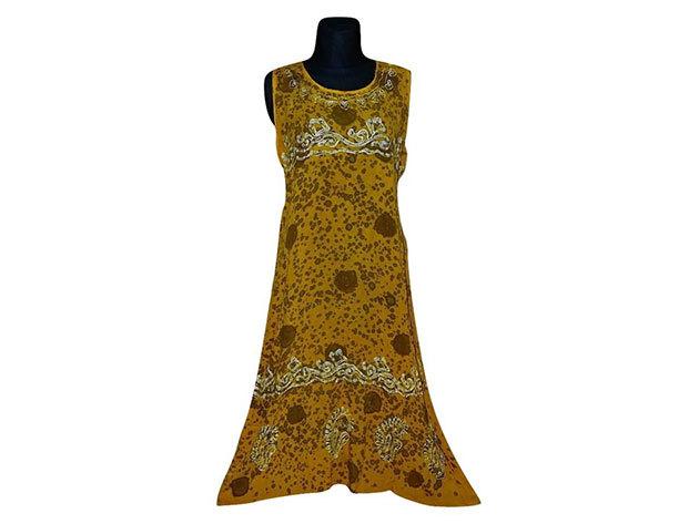 Nagy méretű hosszú ruha Indiából 2500 - citromsárga