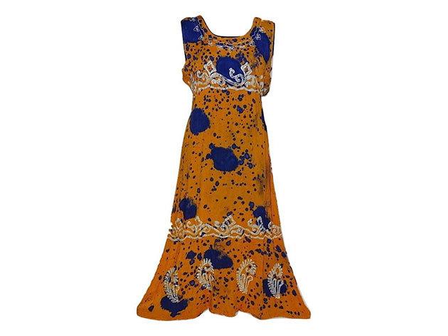 Nagy méretű hosszú ruha Indiából 2500 - narancssárga