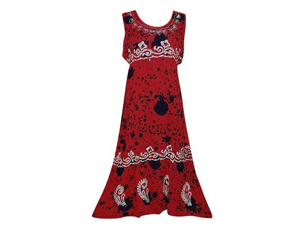 Nagy méretű hosszú ruha Indiából 2500 - piros