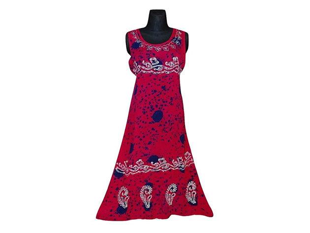 Nagy méretű hosszú ruha Indiából 2500 - rózsaszín