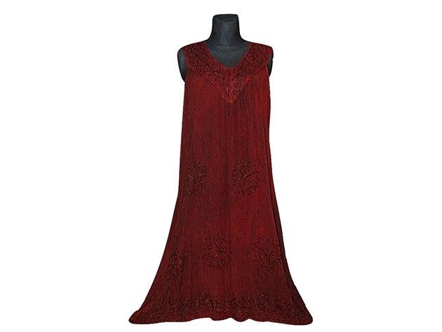 Nagy méretű hosszú ruha Indiából 2504 - bordó