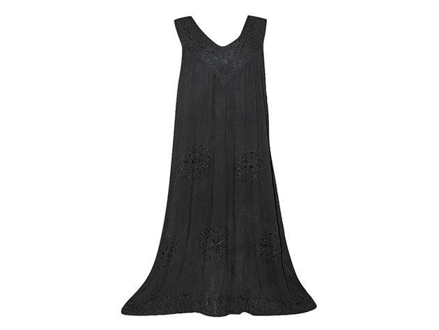 Nagy méretű hosszú ruha Indiából 2504 - fekete