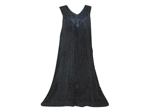 Nagy méretű hosszú ruha Indiából 2504 - szürke