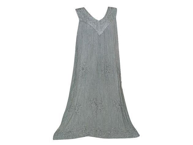Nagy méretű hosszú ruha Indiából 2504 - világos szürke