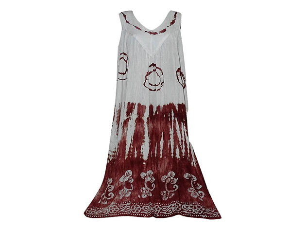 Nagy méretű hosszú ruha Indiából 2501 - bordó
