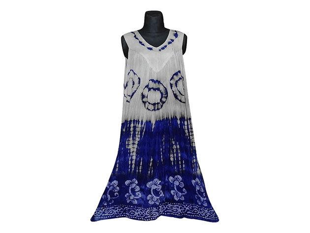 Nagy méretű hosszú ruha Indiából 2501 - kék
