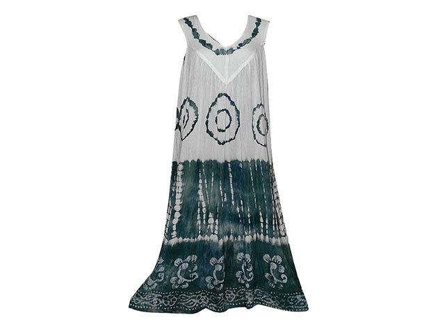 Nagy méretű hosszú ruha Indiából 2501 - szürke