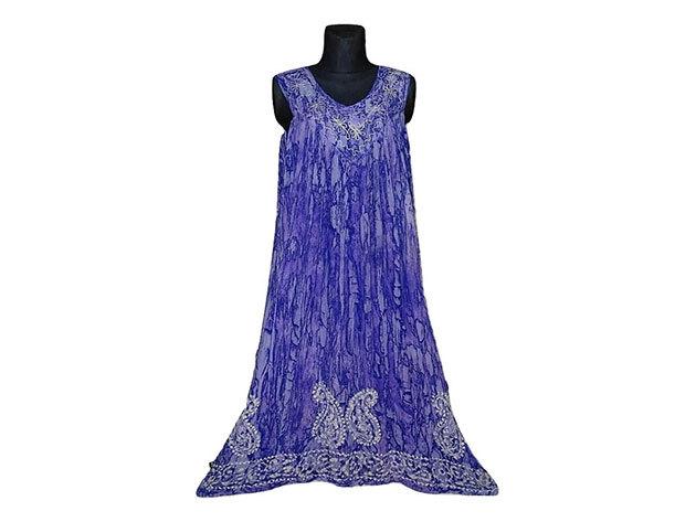 Nagy méretű hosszú ruha Indiából 2508 - kék