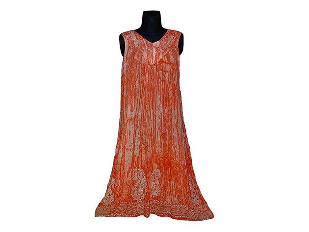 Nagy méretű hosszú ruha Indiából 2508 - koral