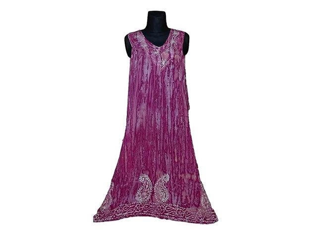 Nagy méretű hosszú ruha Indiából 2508 - rózsaszín
