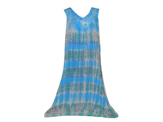 Nagy méretű hosszú ruha Indiából 2506 - kék
