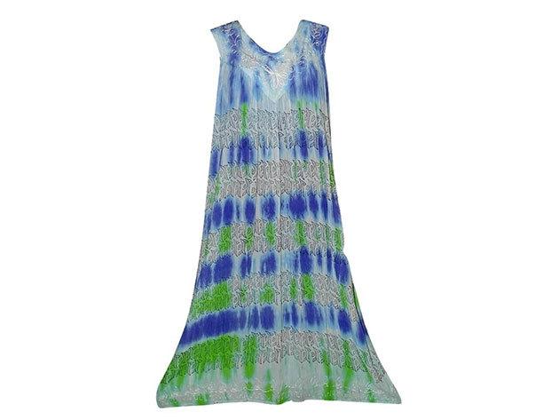 Nagy méretű hosszú ruha Indiából 2506 - világos-kék