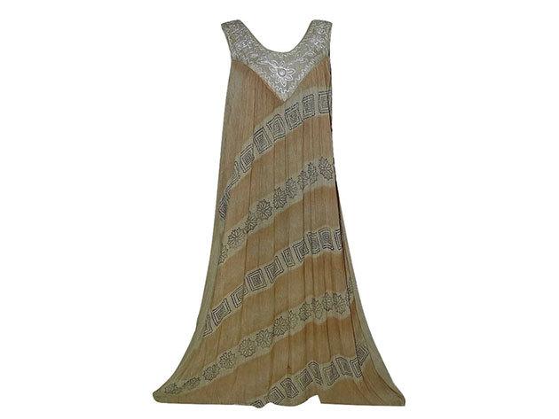 Nagy méretű hosszú ruha Indiából 2502 - drapp