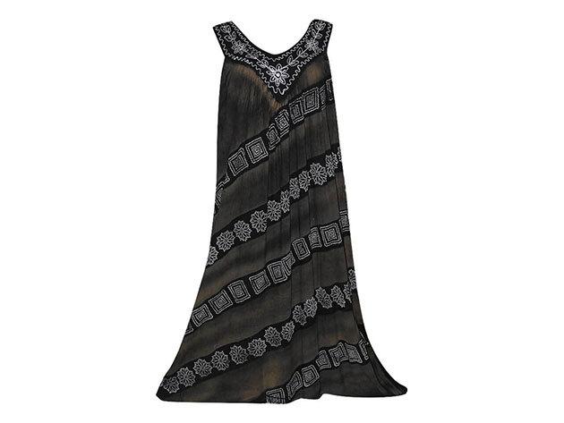 Nagy méretű hosszú ruha Indiából 2502 - fekete