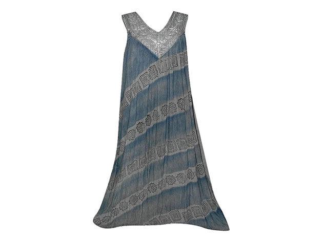 Nagy méretű hosszú ruha Indiából 2502 - kék